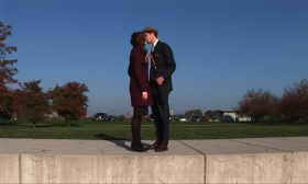 Film Still — David Kovac and Jana Liles kissing