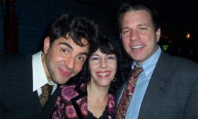 Wrap Party — David, Ruth, and Darren